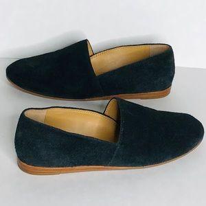 Franco Sarto black leather upper flats size:8.5